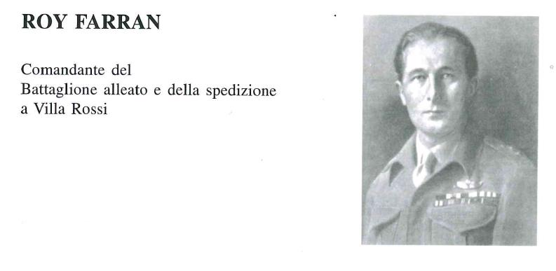 Roy Farran - Comandante battaglione alleato attacco Villa Rossi